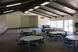 Community room with stage