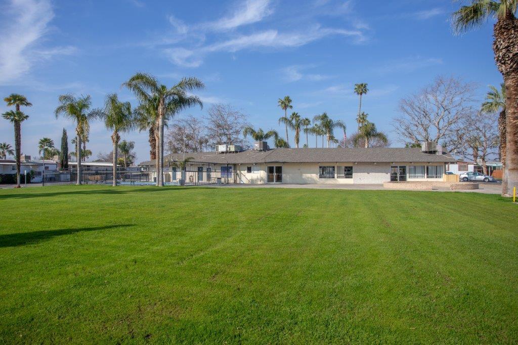 riverdale village main office backyard lawn