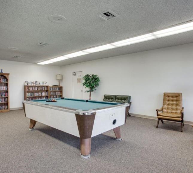 billiard table in community game room 01