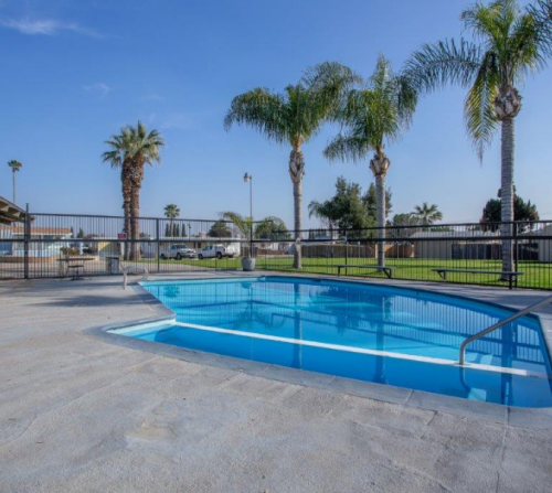 gated community swimming pool